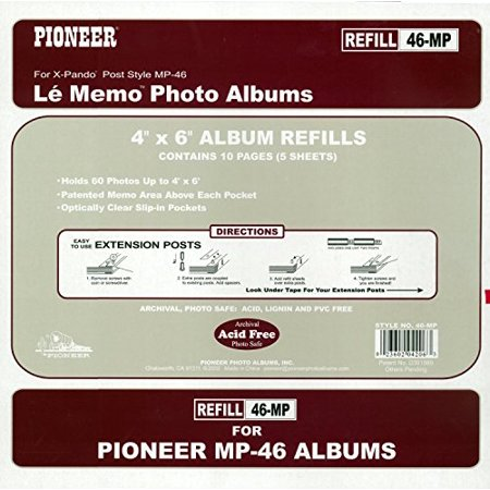 Pioneer 4x6 Memo Photo Album Refill Pages 2 Pack Walmartcom
