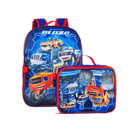 blaze and the monster machines backpack with insulated lunchbox - Backpacks And Lunchboxes