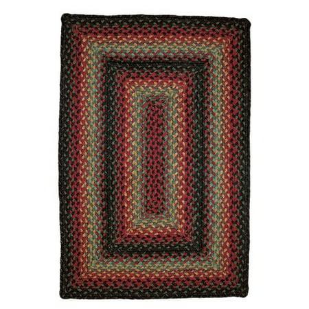 Homespice Decor Oklahoma Braided Red Black Indoor Outdoor Area Rug