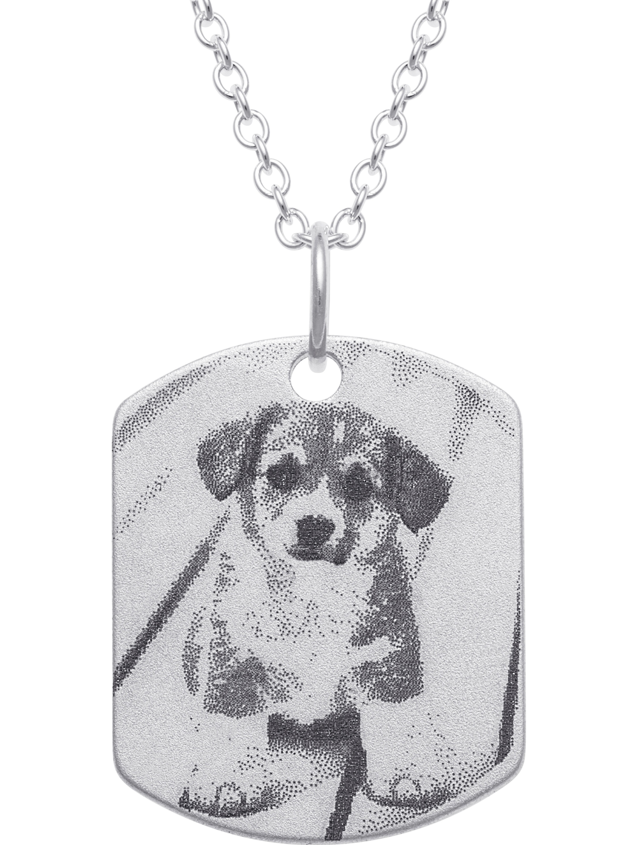 Personalized Women s Sterling Silver Medium Dog Tag with Photo and  Engraving Pendant ae63add27