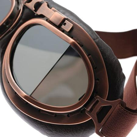 Motorcycle Goggles Glasses Vintage Motocross Retro Aviator Pilot Cruiser ATV UV Protection Goggles - image 1 of 7