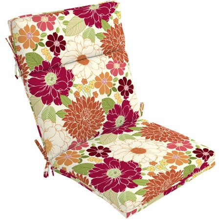 Better homes and gardens floral outdoor chair cushion sorbet floral for Better homes and gardens patio furniture cushions