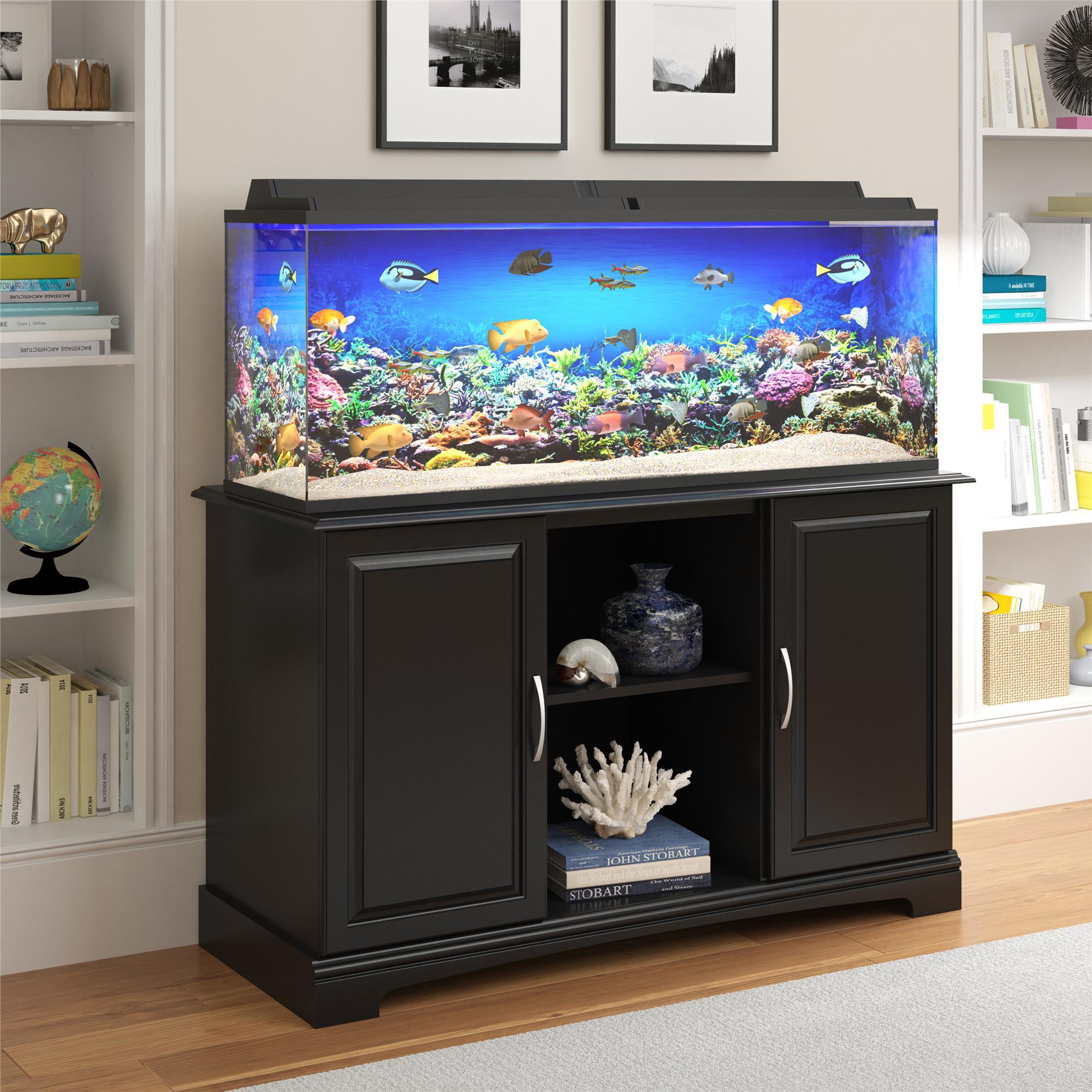 Ameriwood Home Alta Vista 50 75 Gallon Aquarium Stand Multiple Colors Walmart Com Walmart Com