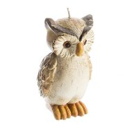 Large Standing Owl Natural Candle