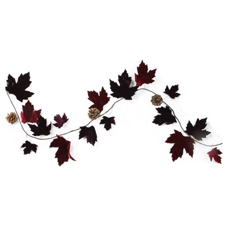 Northlight Natures Luxury Maple Leaf 4 ft. Unlit Garland](Black Leaf Garland)