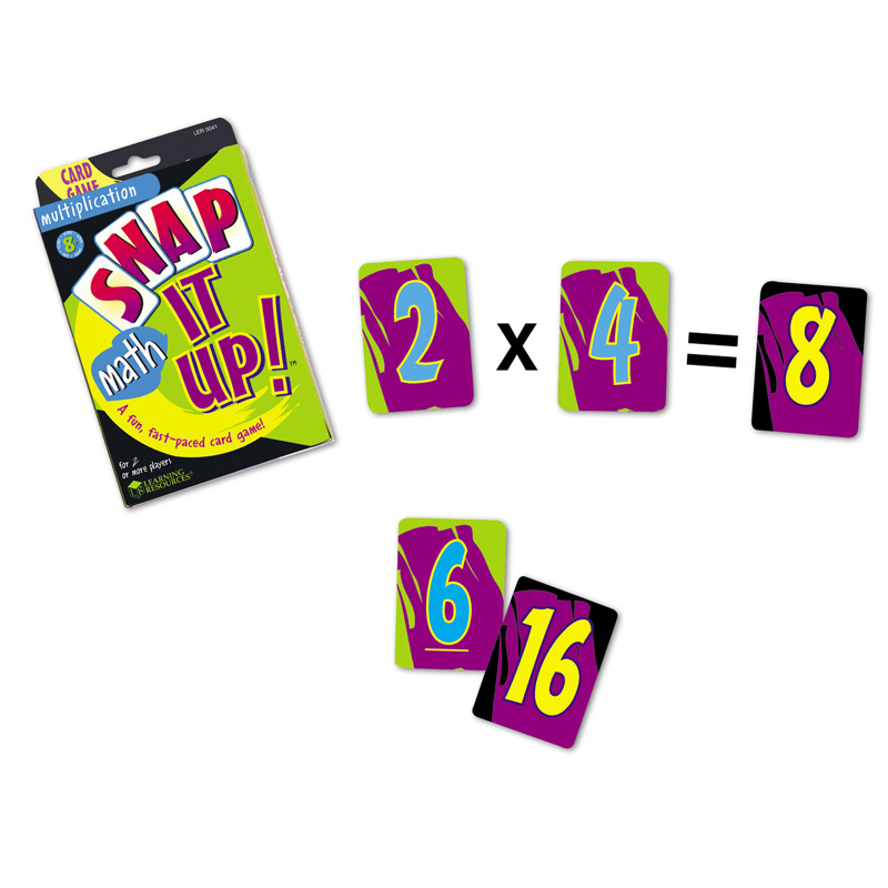 Learning Resources Snap It Up! Math: Multi Card Game
