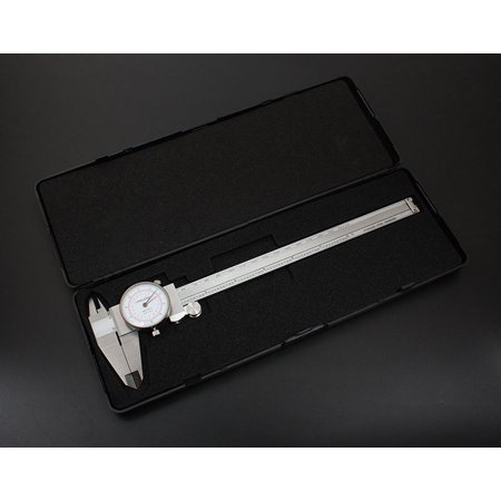 "Accusize - 8"" x 0.001""/200 mm x 0.02 mm, Inch/Metric Dual Needle Precision Dial Caliper Stainless Steel, In Fitted Case, #P920-S238 - image 8 of 11"
