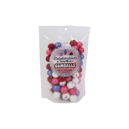 SweetWorks Celebration Gumballs 8oz Conversation