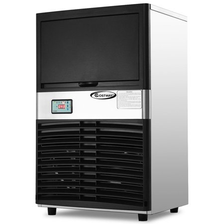 Bunn Commercial Iced Tea Maker - Costway Commercial Ice Maker Automatic Stainless Steel 100lbs/24h Freestanding Portable