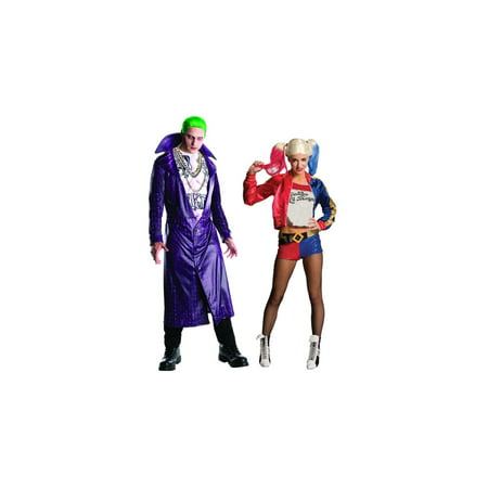 Character Couple Costumes (Suicide Squad Joker and Harley Quinn Couples)