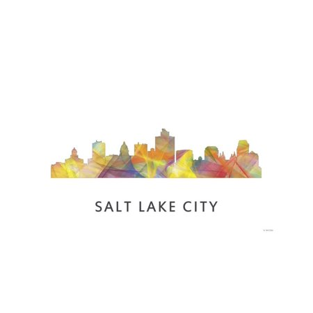 Salt Lake City Utah Skyline Print Wall Art By Marlene Watson](Salt Lake City Halloween Party)