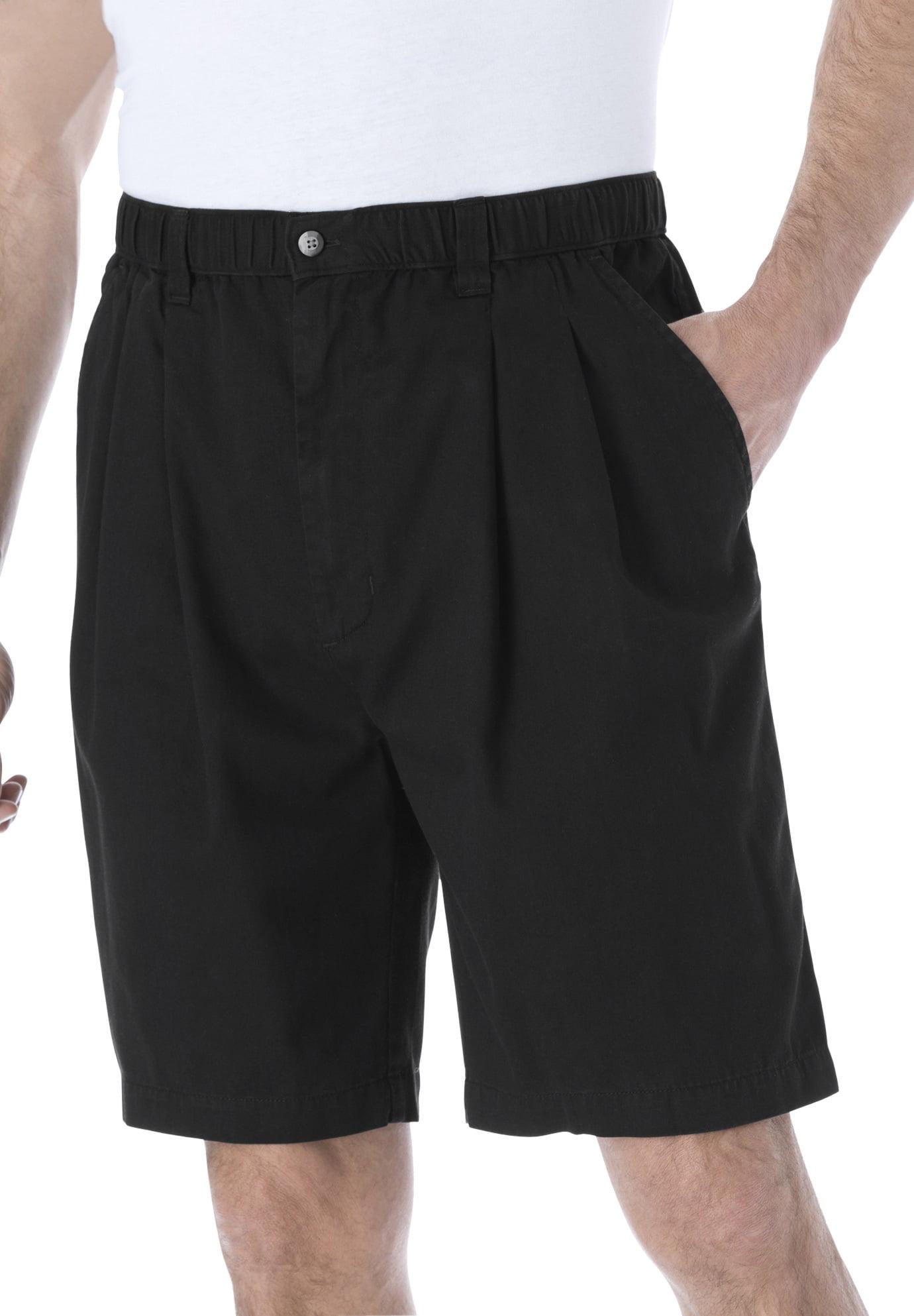 "Kingsize Men's Big & Tall Knockarounds 8"" Pleat Front Shorts"