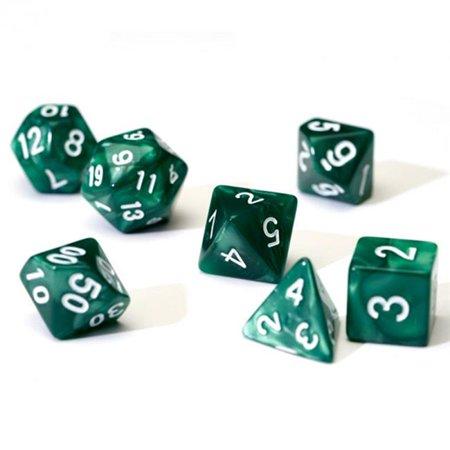 Sirius Dice SDZ000102 7 Piece Pearl Dice Set - Green & White - image 1 of 1