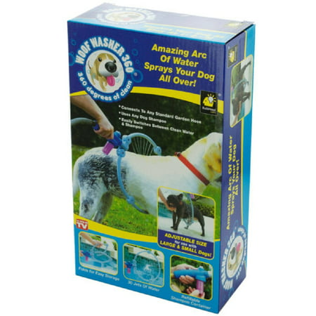 Daily Basic Pet Woof Washer 360 Degree Adjustable Dog Cleaner Bath - Any Dog Size Or Breed (Small, Big and Puppy) (Pet Bats)