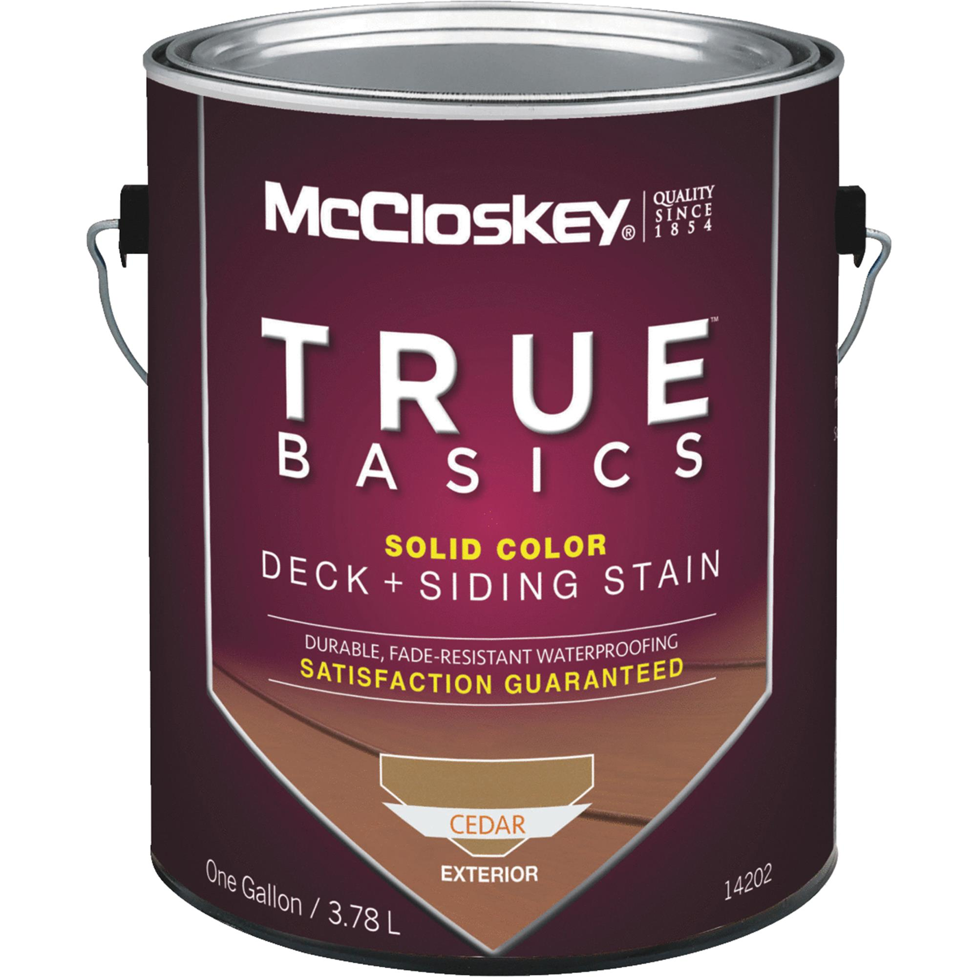McCloskey TRUE BASICS Solid Color Deck & Siding Exterior Stain