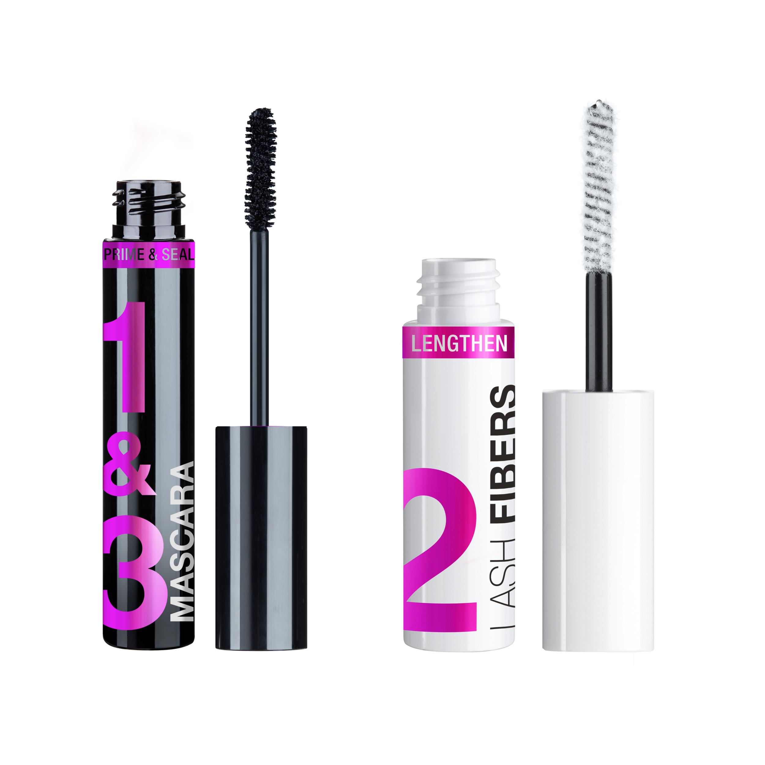 wet n wild Lash-O-Matic Mascara + Fiber Extension Kit, Very Black