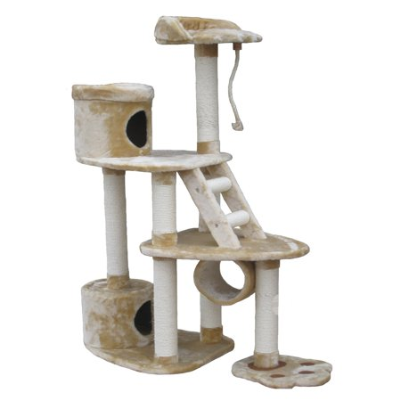 Go Pet Club 59 In  Footprint Cat Tree Playground   F37