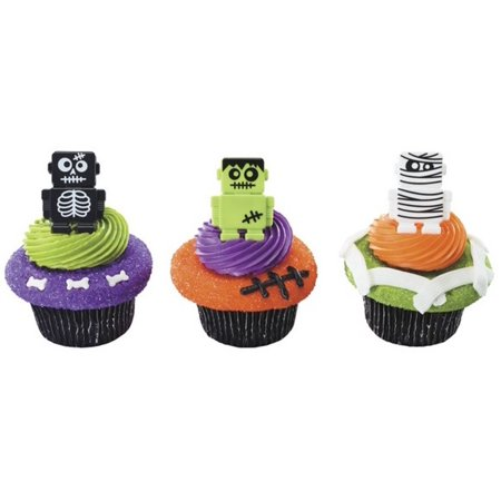 Halloween Monsterbot Robot Cupcake Rings - 24 Count - Cupcake Addiction Halloween
