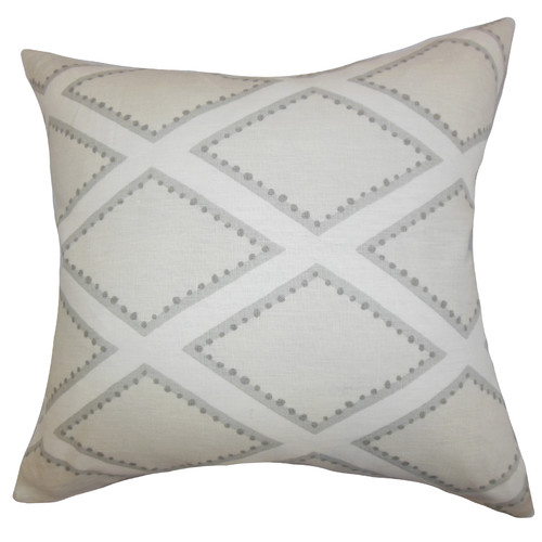The Pillow Collection Alaric Geometric Cotton Throw Pillow