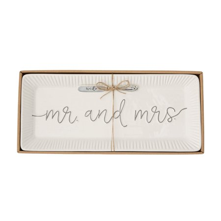 - Mud Pie 4075127 Wedding Hostess Set, White