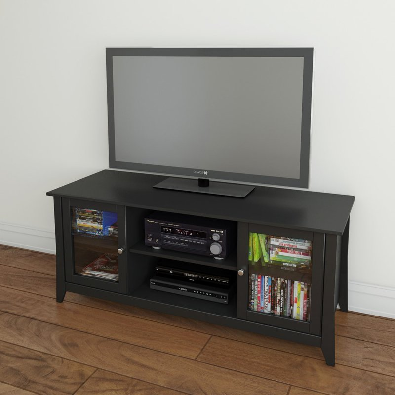 Megalak Finition Tuxedo 58 in. Center Channel TV Console - Black