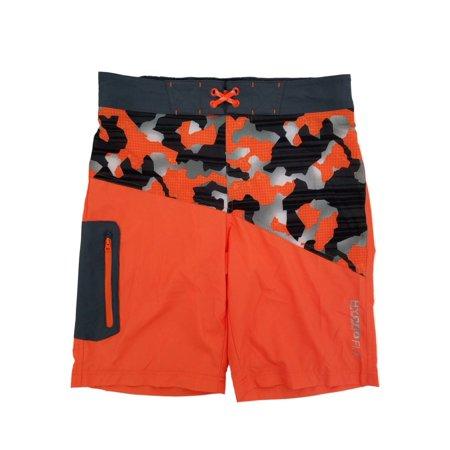 e9c3910b855f7 Free Country - Boys Orange Camo Hydro Flx Swim Shorts Swim Trunks Board  Shorts - Walmart.com