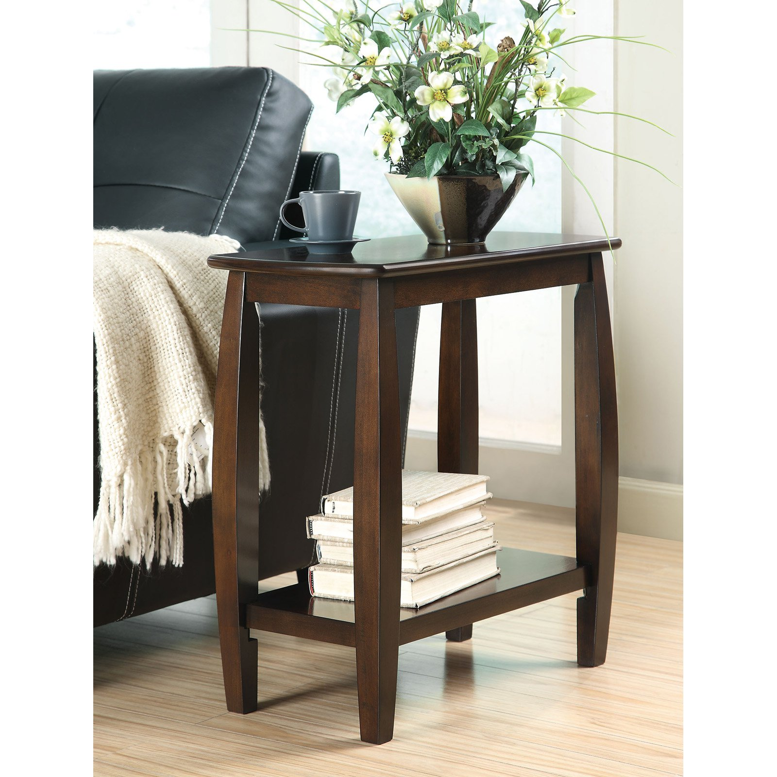 Coaster Furniture Cappuccino Transitional Chairside End Table by Coaster