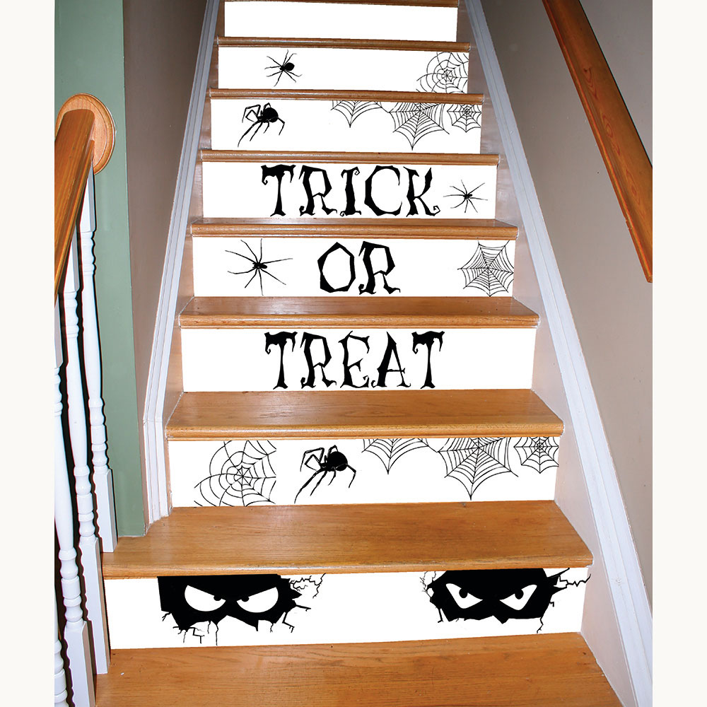 225 & Watch Your Step Spooky Stair Decor