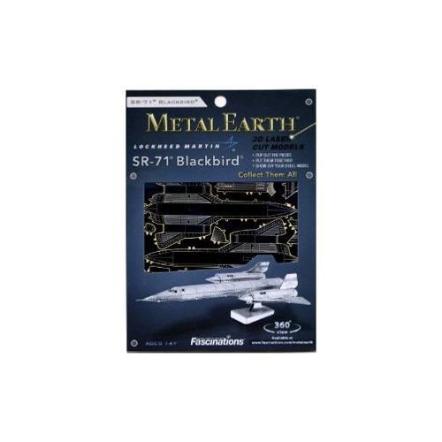 Fascinations Metal Earth SR71 Blackbird Airplane 3D Metal Model Kit