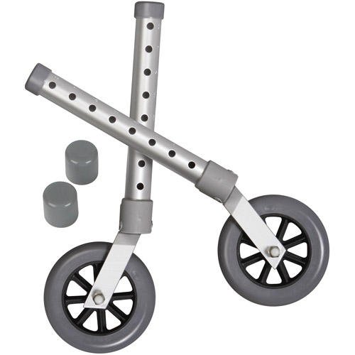 "Medline 5"" Replacement Wheels for Walkers"