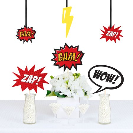 BAM! Superhero - Decorations DIY Baby Shower or Birthday Party Essentials - Set of 20](Baby Super Hero)