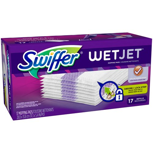 Swiffer WetJet Hardwood Floor Spray Mop Pad Refills, 12 count