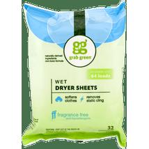 Dryer Sheets: Grab Green Wet