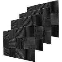 "48 Pack Acoustic Panels Studio Soundproofing Foam Wedges 1"" X 12"" X 12"""