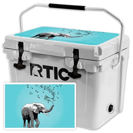 Skin for RTIC 20 Cooler Lid (2017 Model) - Musical Elephant| MightySkins Protective, Durable, and Unique Vinyl Decal wrap cover  | Easy To Apply, Remove, and Change Styles | Made in the USA