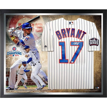 - Kris Bryant Chicago Cubs 2016 MLB World Series Champions Framed Autographed Majestic White Replica World Series Jersey Collage - Fanatics Authentic Certified