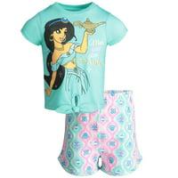 Disney Aladdin Princess Jasmine Toddler Girls' T-Shirt & Shorts Clothing Set (2T)