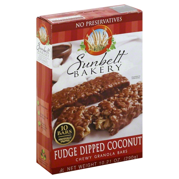 Sunbelt Bakery Family Pack Fudge Dipped Coconut Chewy Granola Bars, 10.21 oz