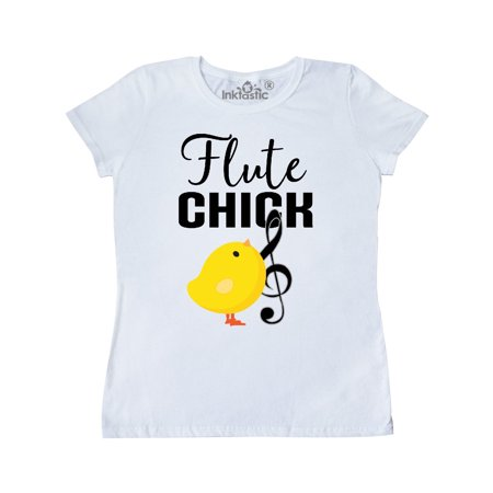 Flute Chick Marching Band Gift Women's T-Shirt