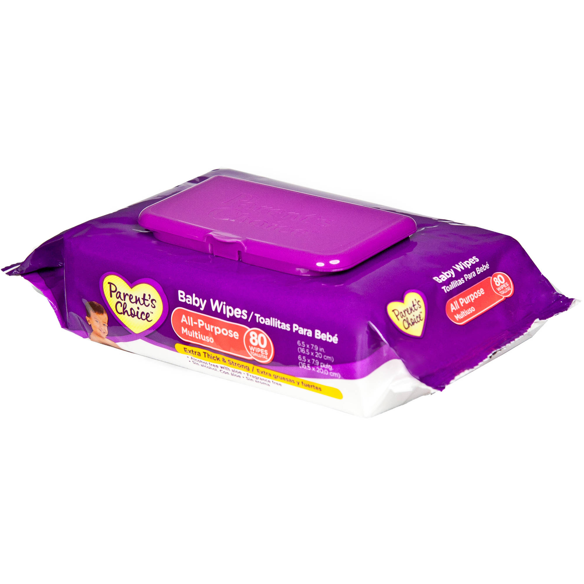 Parent's Choice Flip-Top All Purpose Wipes, 80 sheets