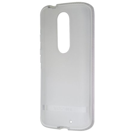 Tech21 Evo Shell Flexible Gel Case Cover for Motorola Droid Turbo 2- Frost White (Droid Turbo Tech 21)