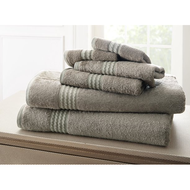 Spa Collection Bamboo by Rayon 6 Piece Towel Set