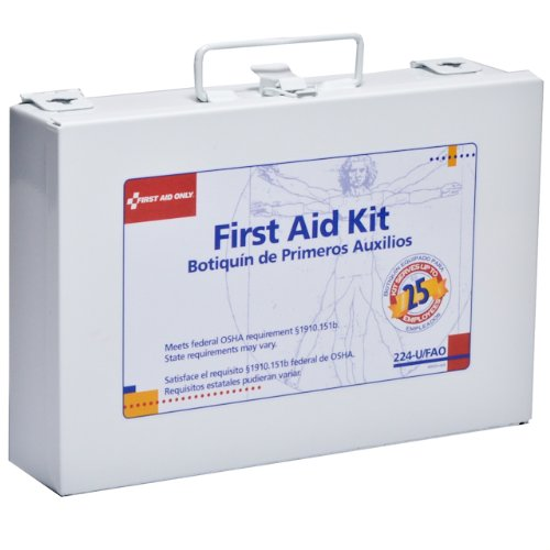 FIRST AID ONLY, INC. 224U First Aid Kit For 25 People, 106 Pieces, Osha Compliant, Metal Case