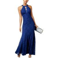 981fe770bda8 Product Image NIGHTWAY Womens Navy Lace Sleeveless Keyhole Full-Length  Mermaid Formal Dress Size: 10