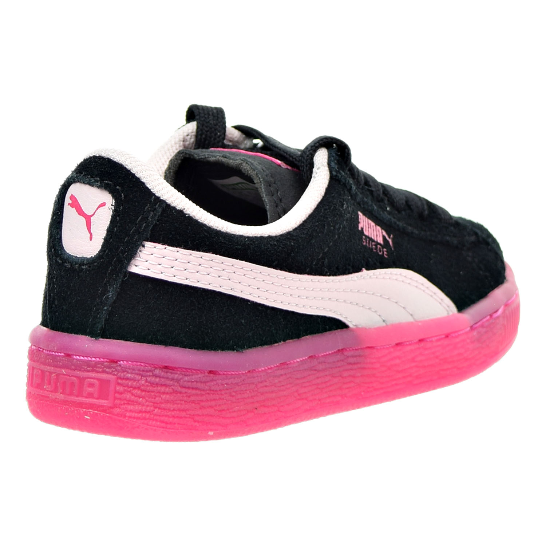 11a63fd95f0 PUMA - Puma Suede LFS Iced Little Kids (PS) Shoe Black Pink Beetroot Purple  363246-03 (1.5 M US) - Walmart.com