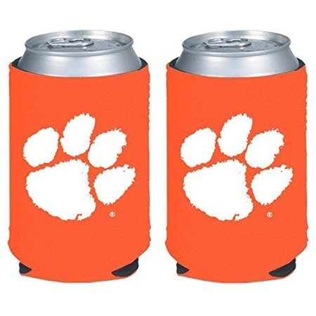 NCAA College 2014 Team Logo Color Can Kaddy Holder Cooler 2-Pack (Clemson (College Logo Holders)