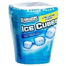 Ice Breakers Ice Cubes Sugar Free Peppermint Gum, 40-Piece Bottle Packs(Pack of 2)
