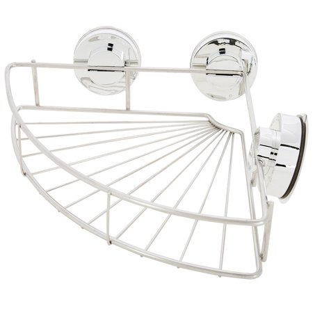 Knifun Bathroom Stainless Steel Shower Basket Suction Cup Corner
