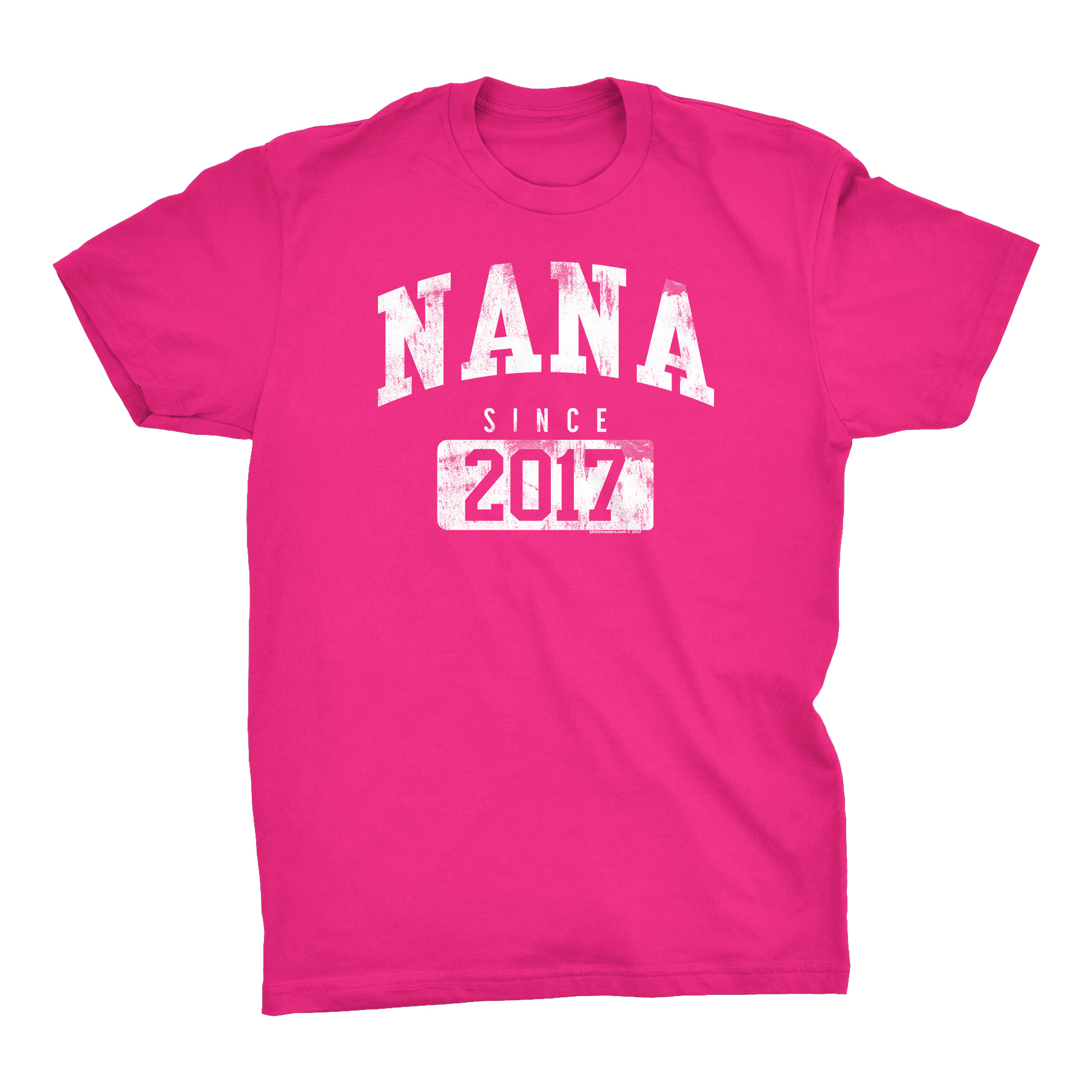 NANA Since 2017 - New Grandmother Gift T-shirt - 001 - Heliconia