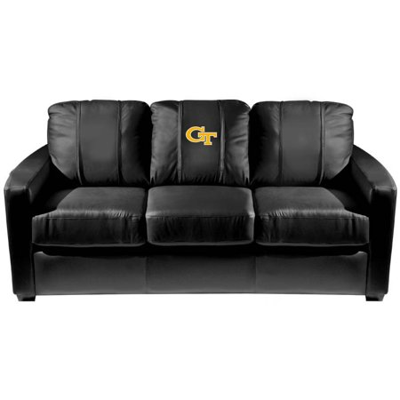 Georgia Couch (Georgia Tech Yellow Jackets Collegiate Silver Sofa with Block GT logo )